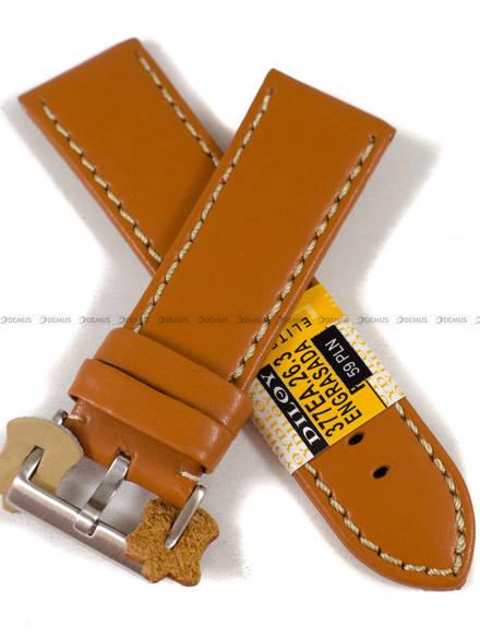 Pasek skórzany do zegarka - Diloy 377EA.26.3 - 26 mm