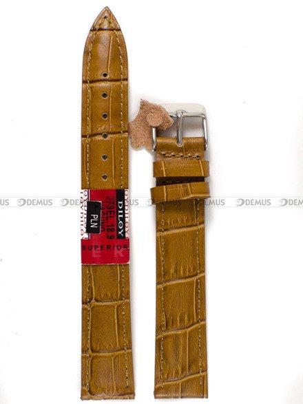 Pasek skórzany do zegarka - Diloy 379EL.18.9 - 18 mm