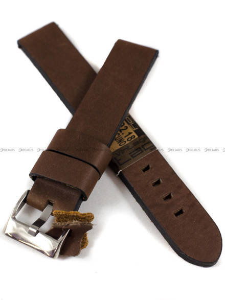 Pasek skórzany do zegarka - Diloy 383.18.2 - 18 mm