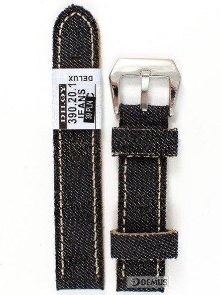 Pasek skórzany do zegarka - Diloy 390.20.1 - 20 mm