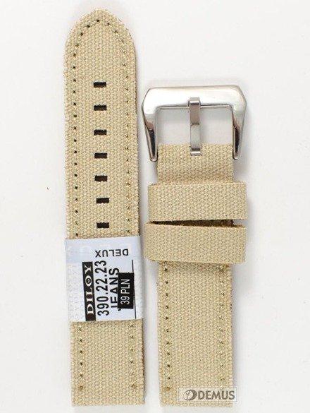 Pasek skórzany do zegarka - Diloy 390.22.23 - 22 mm
