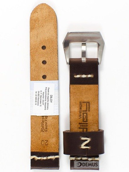 Pasek skórzany do zegarka - Diloy 392.20.2 - 20 mm