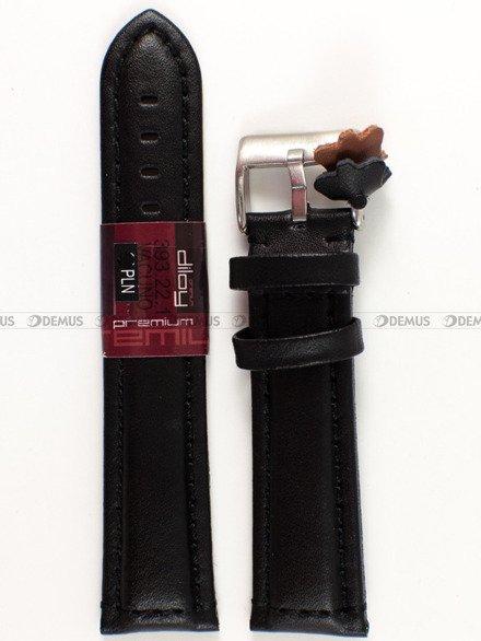 Pasek skórzany do zegarka - Diloy 393.22.1 - 22 mm