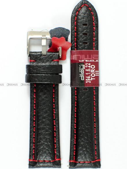 Pasek skórzany do zegarka - Diloy 394.22.1.6 - 22 mm