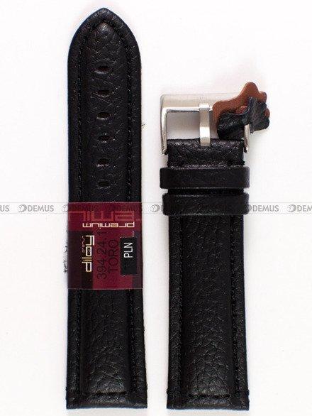 Pasek skórzany do zegarka - Diloy 394.24.1 - 24 mm