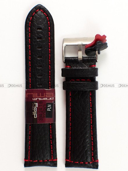 Pasek skórzany do zegarka - Diloy 394.24.1.6 - 24 mm