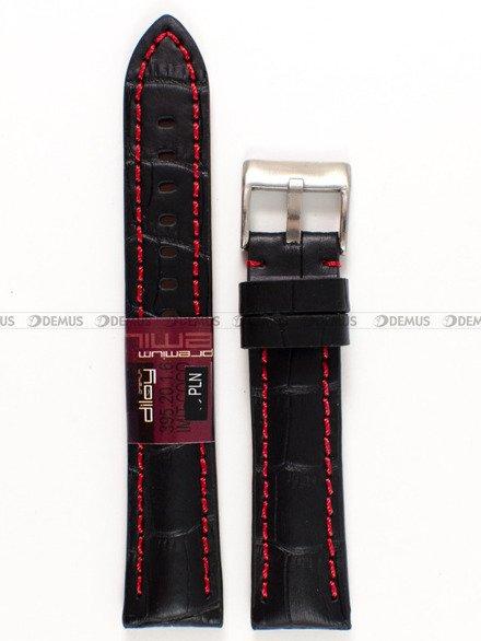 Pasek skórzany do zegarka - Diloy 395.20.1.6 - 20 mm