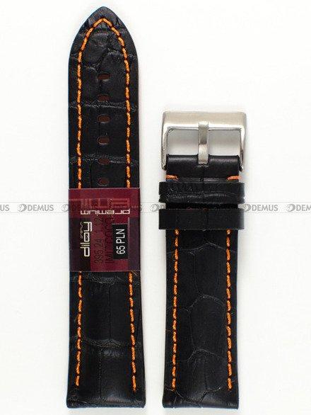 Pasek skórzany do zegarka - Diloy 395.24.1.12 - 24 mm