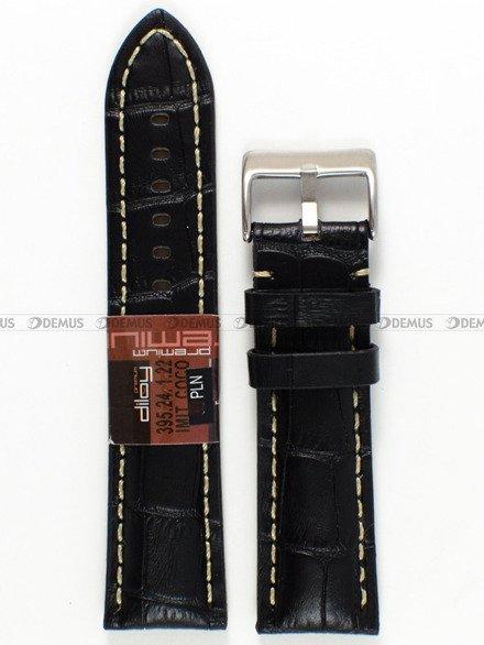 Pasek skórzany do zegarka - Diloy 395.24.1.22 - 24 mm