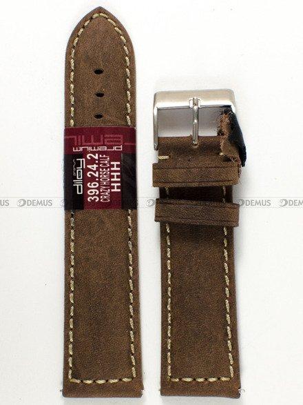 Pasek skórzany do zegarka - Diloy 396.24.2 - 24 mm
