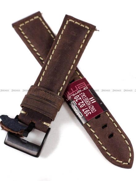 Pasek skórzany do zegarka - Diloy 397.20.2 - 20 mm