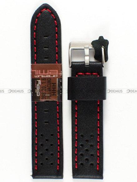 Pasek skórzany do zegarka - Diloy 398.20.1.6 - 20 mm