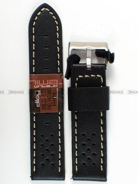 Pasek skórzany do zegarka - Diloy 398.22.1.22 - 22 mm
