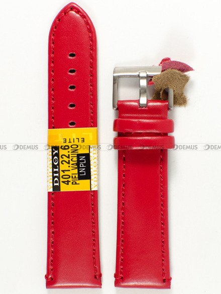 Pasek skórzany do zegarka - Diloy 401.22.6 - 22 mm