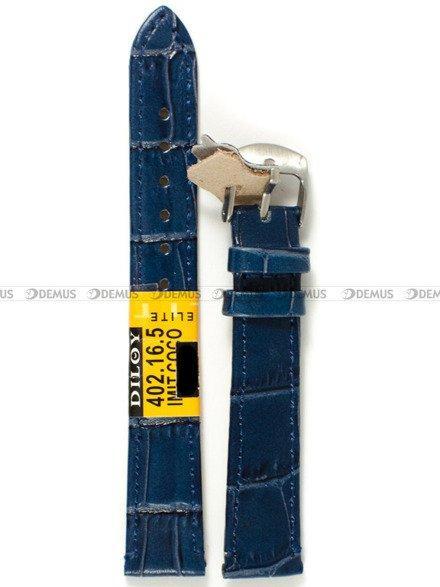 Pasek skórzany do zegarka - Diloy 402.16.5 - 16 mm
