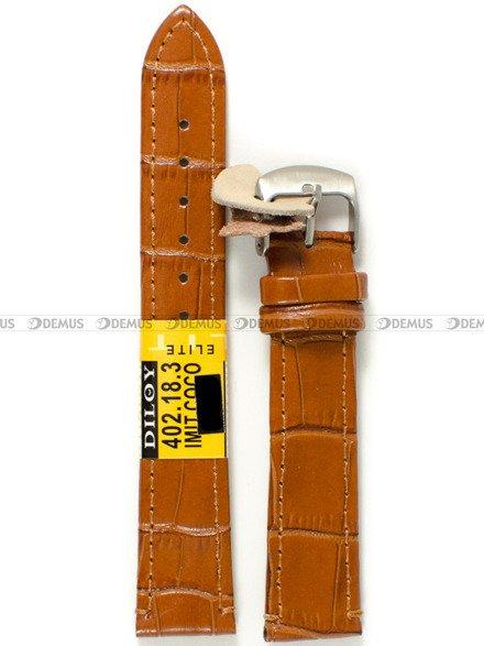 Pasek skórzany do zegarka - Diloy 402.18.3 - 18 mm