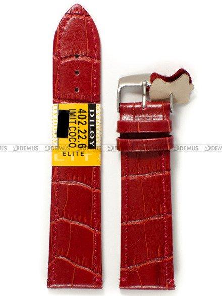 Pasek skórzany do zegarka - Diloy 402.22.6 - 22 mm