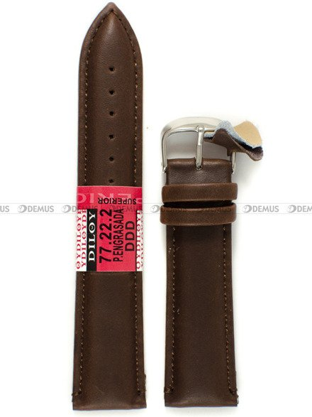 Pasek skórzany do zegarka - Diloy 77.22.2 - 22 mm
