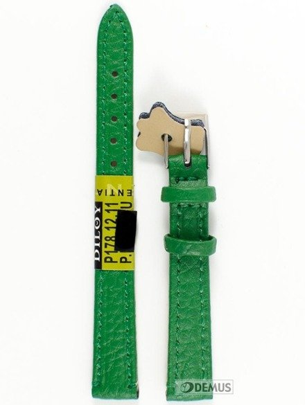 Pasek skórzany do zegarka - Diloy P178.12.11 - 12 mm