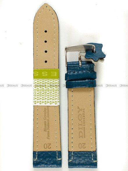 Pasek skórzany do zegarka - Diloy P178.20.19 - 20 mm