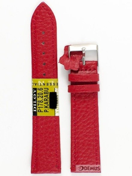 Pasek skórzany do zegarka - Diloy P178.20.6 - 20 mm
