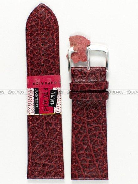 Pasek skórzany do zegarka - Diloy P178.24.4 - 24mm