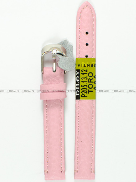 Pasek skórzany do zegarka - Diloy P205.12.13 - 12 mm