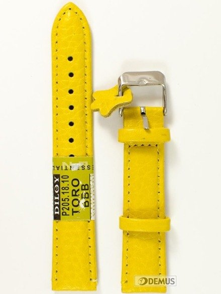 Pasek skórzany do zegarka - Diloy P205.18.10 - 18mm