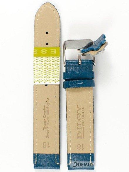 Pasek skórzany do zegarka - Diloy P205.18.19 - 18mm