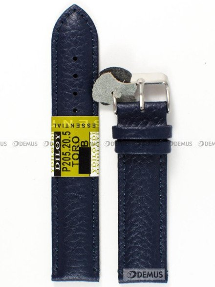 Pasek skórzany do zegarka - Diloy P205.20.5 - 20mm