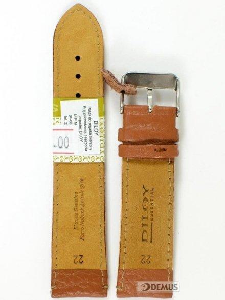 Pasek skórzany do zegarka - Diloy P205.22.3 - 22mm