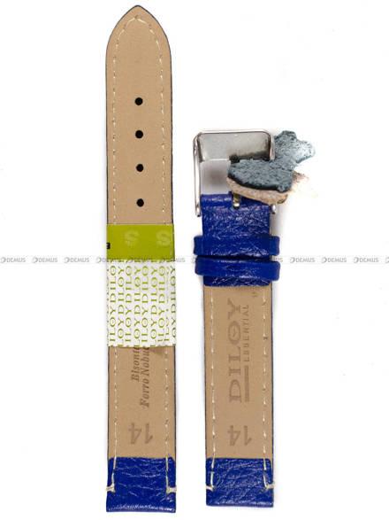Pasek skórzany do zegarka - Diloy P206.14.16 - 14 mm