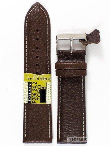 Pasek skórzany do zegarka - Diloy P206.24.2 - 24mm