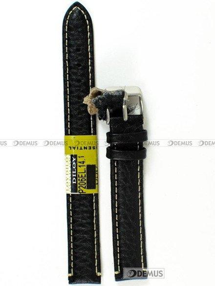 Pasek skórzany do zegarka - Diloy P206EL.14.1 - 14mm