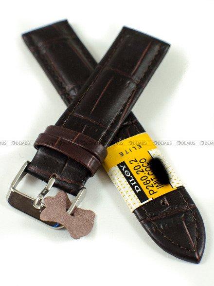 Pasek skórzany do zegarka - Diloy P260.20.2 - 20 mm