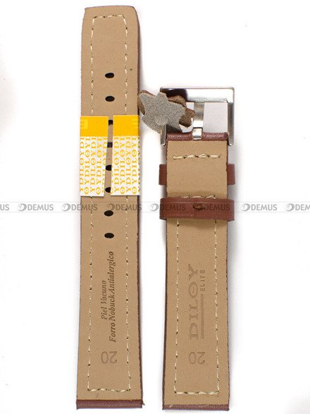 Pasek skórzany do zegarka - Diloy P353.20.8 - 20 mm