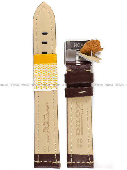 Pasek skórzany do zegarka - Diloy P354.18.2 - 18mm