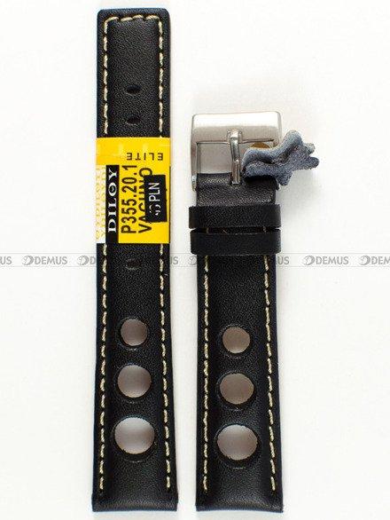 Pasek skórzany do zegarka - Diloy P355.20.1 - 20 mm