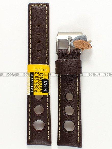 Pasek skórzany do zegarka - Diloy P355.20.2 - 20 mm