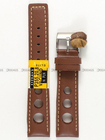 Pasek skórzany do zegarka - Diloy P355.20.8 - 20 mm