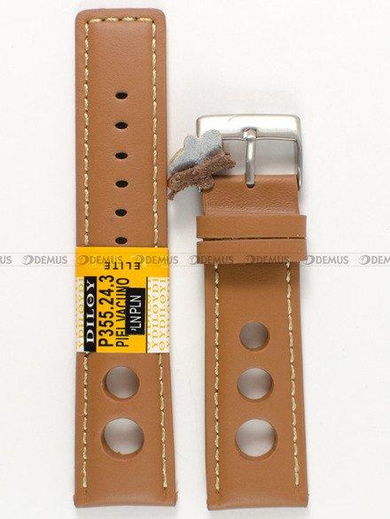 Pasek skórzany do zegarka - Diloy P355.24.3 - 24 mm