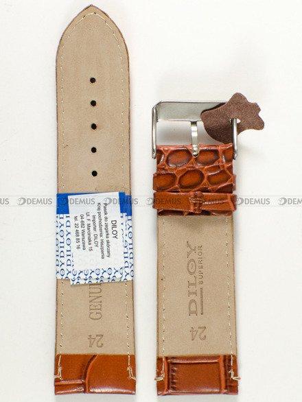 Pasek skórzany do zegarka - Diloy P356.24.3 - 24mm