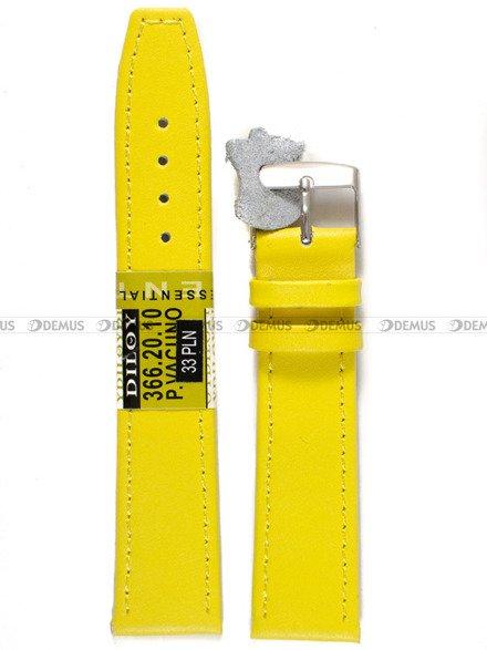 Pasek skórzany do zegarka - Diloy P366.20.10 - 20 mm