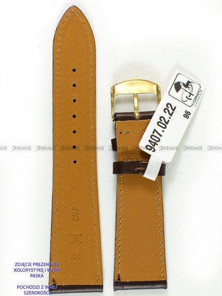 Pasek skórzany do zegarka - Horido 9407.02.20S - 20 mm - Zwężany