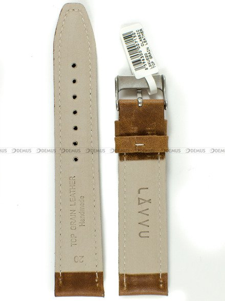 Pasek skórzany do zegarka - LAVVU LSKUE20 - 20 mm