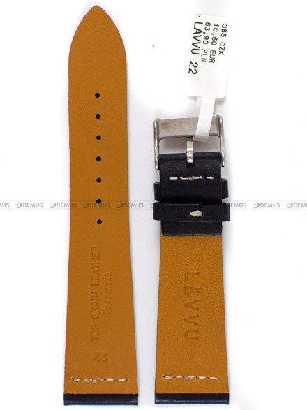 Pasek skórzany do zegarka - LAVVU LSVUB22 - 22 mm