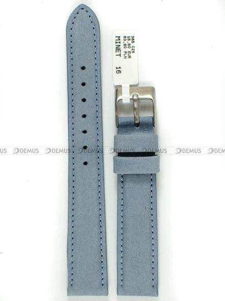 Pasek skórzany do zegarka - Minet MSNUJ16 - 16 mm