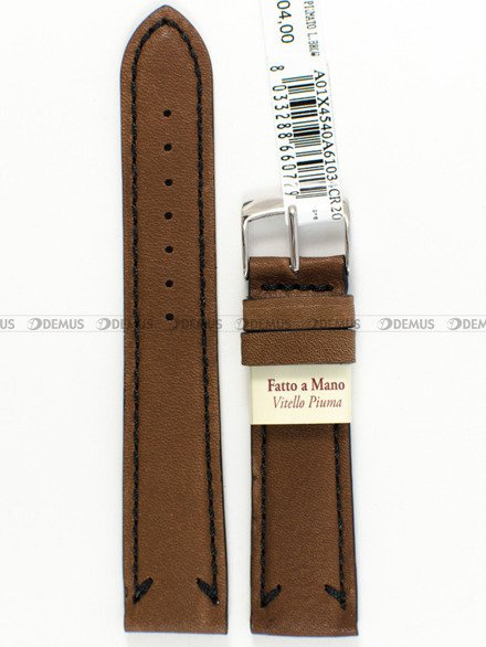 Pasek skórzany do zegarka - Morellato A01X4540A61034 - 20 mm
