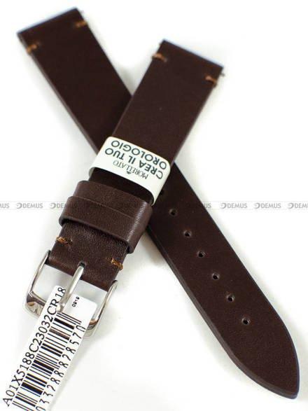 Pasek skórzany do zegarka - Morellato A01X5188C23032CR18 - 18 mm