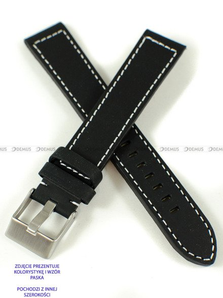 Pasek skórzany do zegarka - Pacific W25XL.22.1.7 - 22 mm